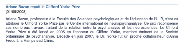 Clifford Yorke Prize